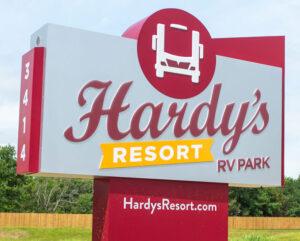 hardys RV Sign